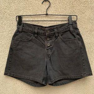 LEVI'S Vintage High Waisted Denim Shorts Black 26